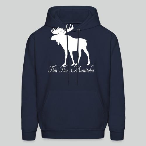Moose White png - Men's Hoodie