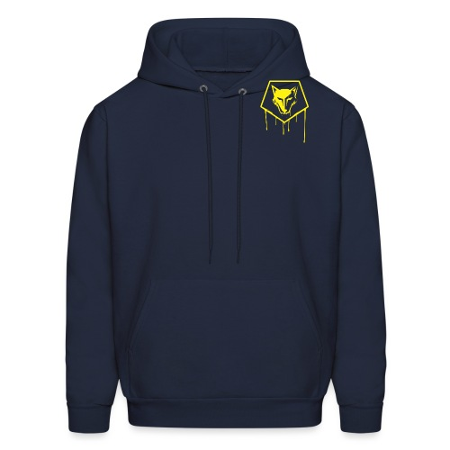 the drip crest - Men's Hoodie