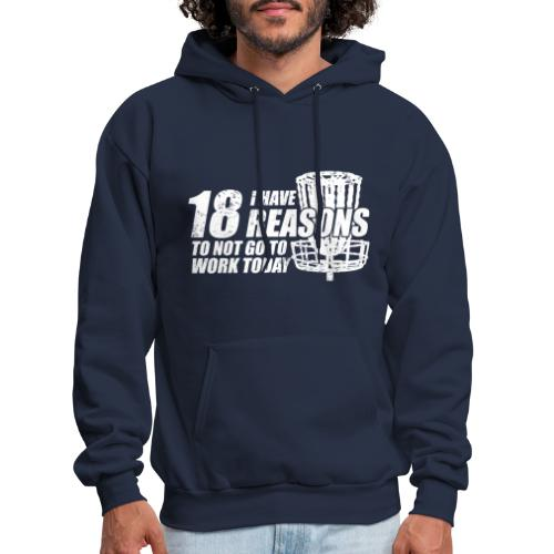 Eighteen Reasons White Disc Golf Shirt - Men's Hoodie