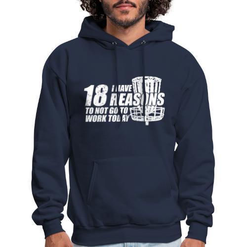 Eighteen Reasons White Disc Golf Shirt - Men's Hoodie