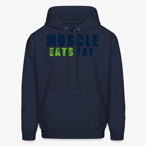 Muscle Eats Fat (Seahawks Blue) - Men's Hoodie