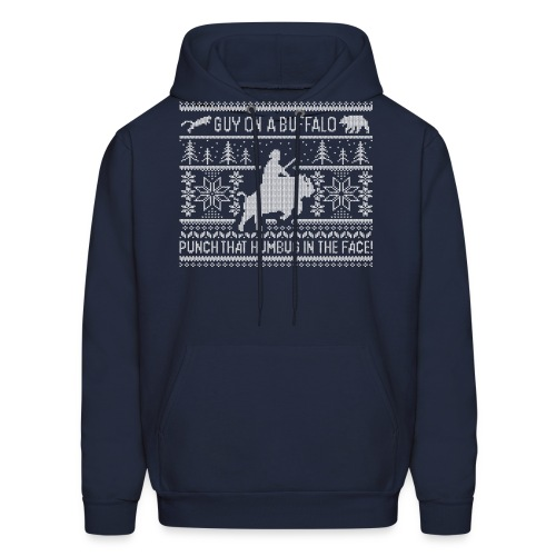 Guy on a Buffalo X-mas 17 - Men's Hoodie