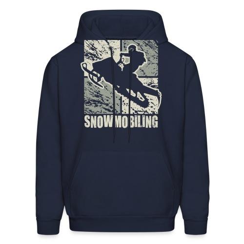 Snowmobile Rider Cubism - Men's Hoodie