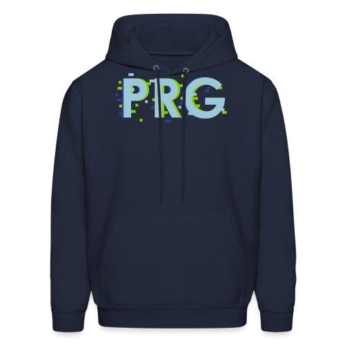 PRG distorted Neon libertarian Design - Men's Hoodie