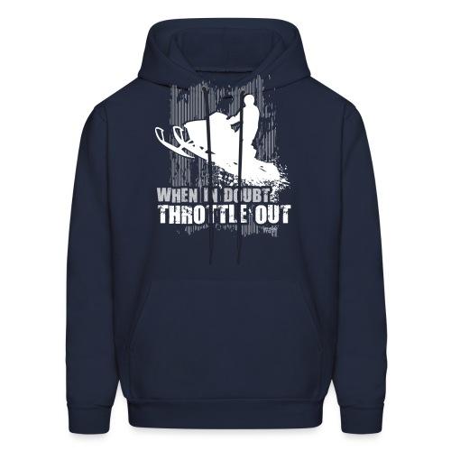 Snowmobile Doubt Throttle - Men's Hoodie