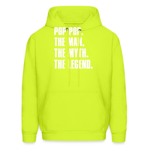Pop Pop The Man The Myth The Legend Grandpa Gift - Men's Hoodie