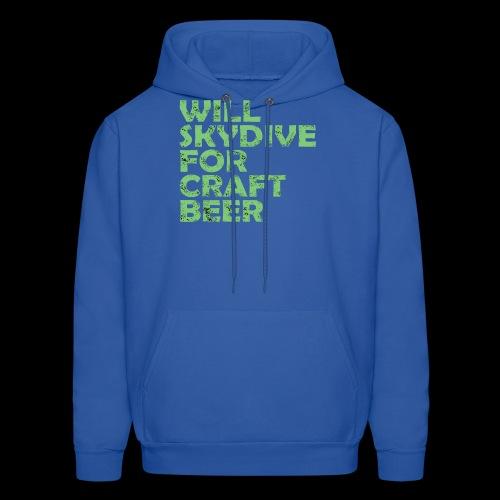 skydive for craft beer - Men's Hoodie