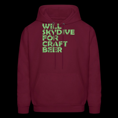skydive for craft beer - Men's Hoodie