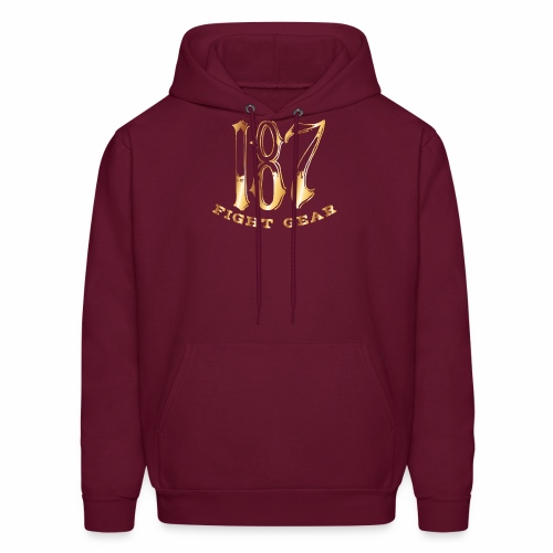 187 Fight Gear Gold Logo Street Wear - Men's Hoodie