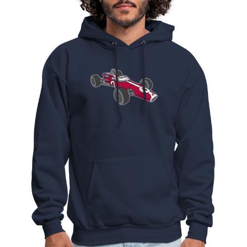 Red racing car, racecar, sportscar - Men's Hoodie