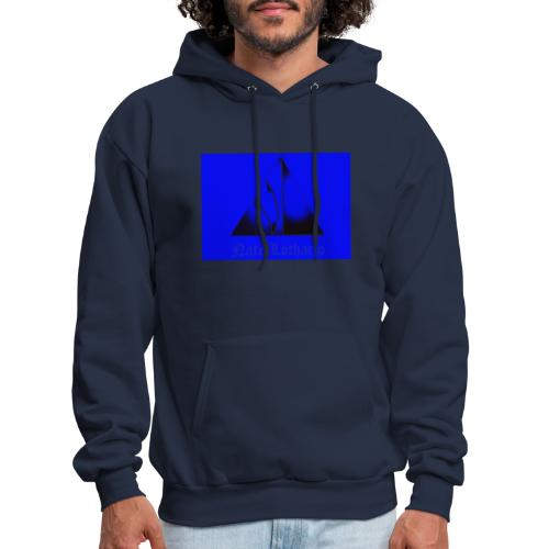 Blue Logo - Men's Hoodie
