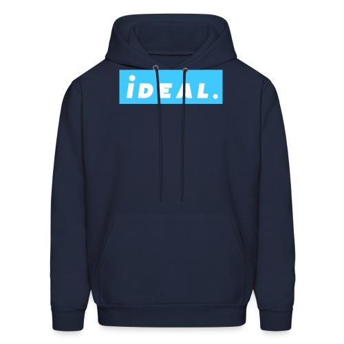 rare ideal blue logo - Men's Hoodie