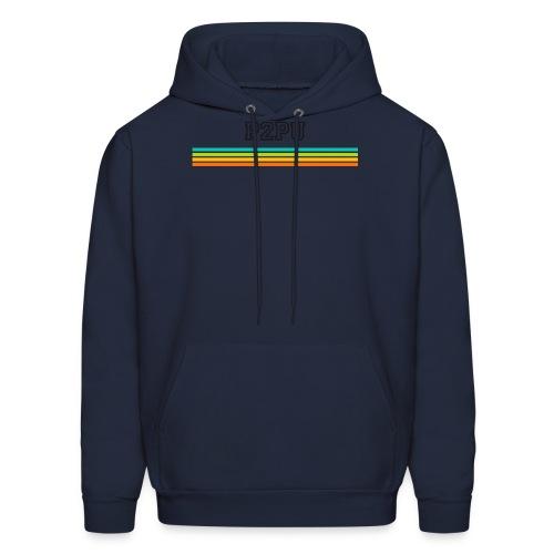 striped mug black logo png - Men's Hoodie