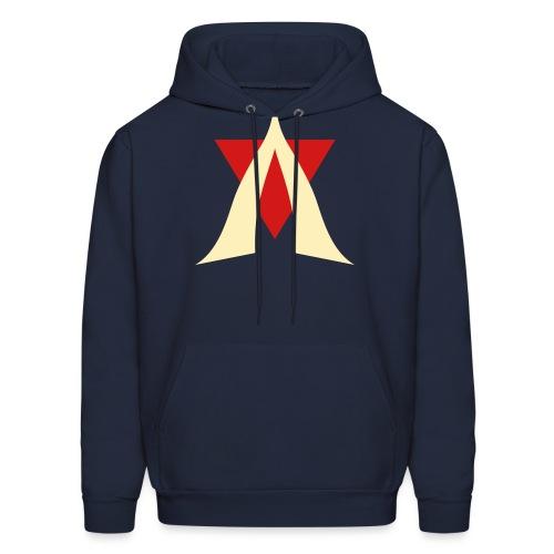 V Logo Jimmy Casket - Men's Hoodie