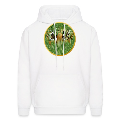 Tiger In The Grass - Men's Hoodie