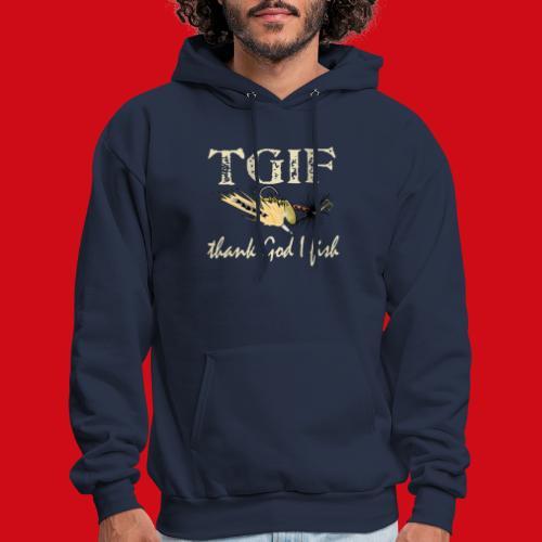 TGIF - Thank God I Fish - Men's Hoodie
