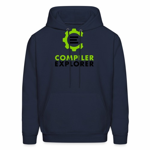 Logo and text - Men's Hoodie