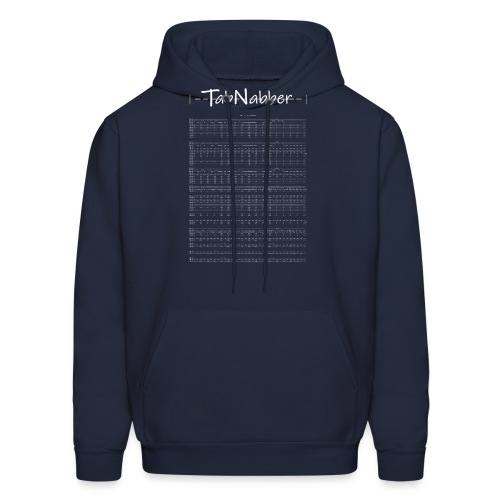 TabNabber Logo feat M3 / 13 Colonies Tab White - Men's Hoodie