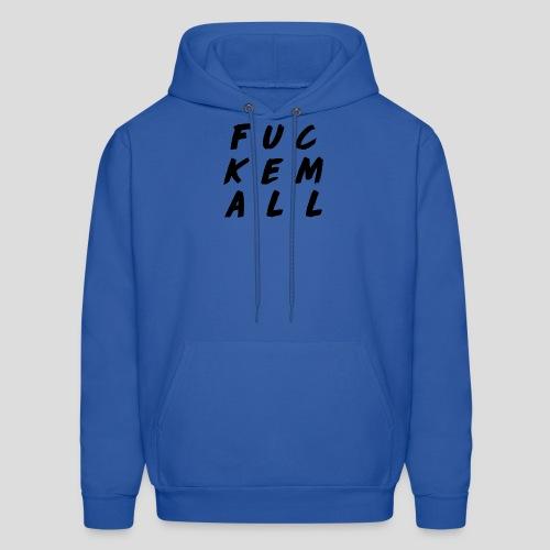 FUCKEMALL Black Logo - Men's Hoodie