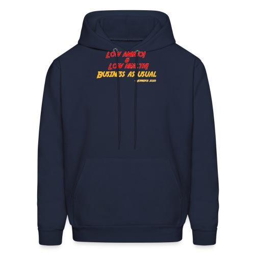Low ammo & Low health + Logo - Men's Hoodie