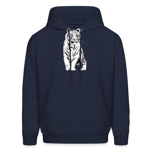 Stately White Tiger - Men's Hoodie