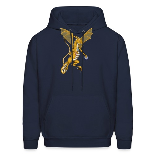 Jeweled Gold Dragon - Men's Hoodie