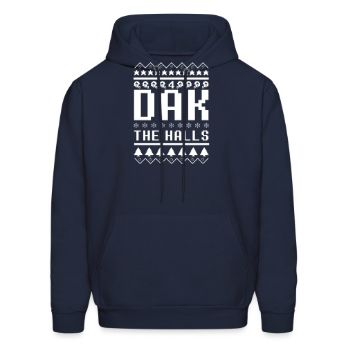 Dak The Halls Ugly Christmas Sweater - Men's Hoodie