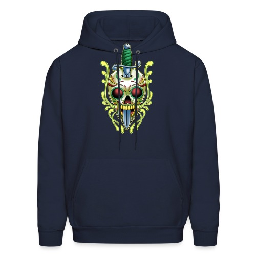 DoD Skull w/Sword by RollinLow - Men's Hoodie