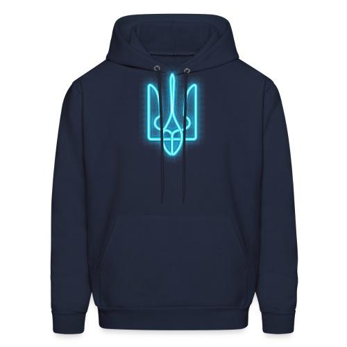 neon tryzub blue - Men's Hoodie