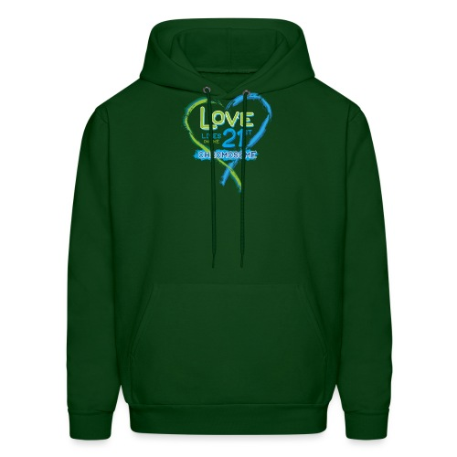 Down Syndrome Love (Blue) - Men's Hoodie