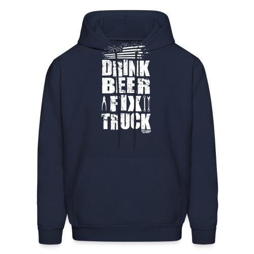 DRINK BEER FIX TRUCK - Men's Hoodie