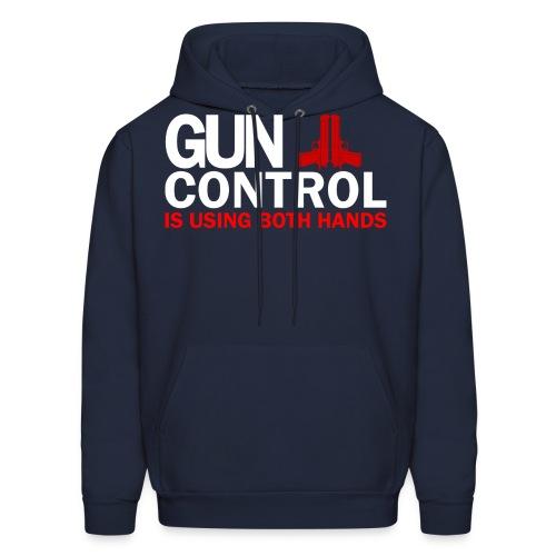 Gun control, White FONT - Men's Hoodie