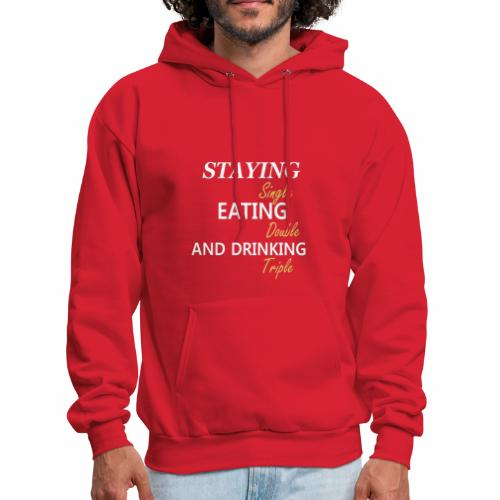 Funny T-shirt for Single My life goals are - Men's Hoodie