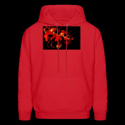 flaming horse - Men's Hoodie