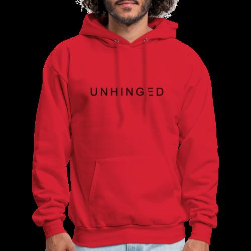 Unhinged Text Design BLACK - Men's Hoodie