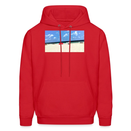BEACH OF RED UMBRELLAS - Men's Hoodie
