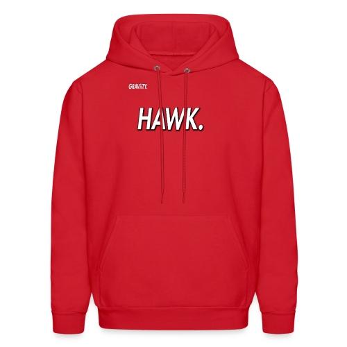 GRAViiTY Hawk (White Print) - Men's Hoodie