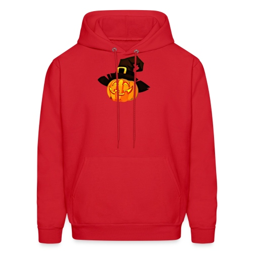Funny Pumpkin lantern with a hat - Men's Hoodie