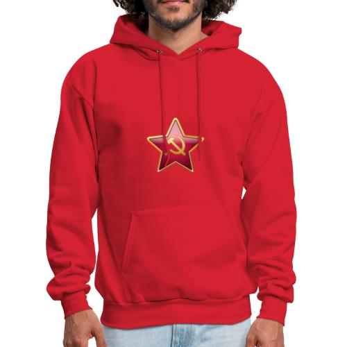 Red star with a sickle and a hammer - Men's Hoodie
