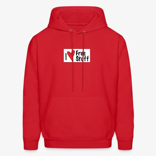 I love free stuff - Men's Hoodie