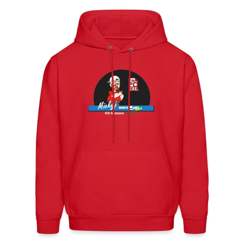 Mickyj - Kill malware dead (Red) - Men's Hoodie