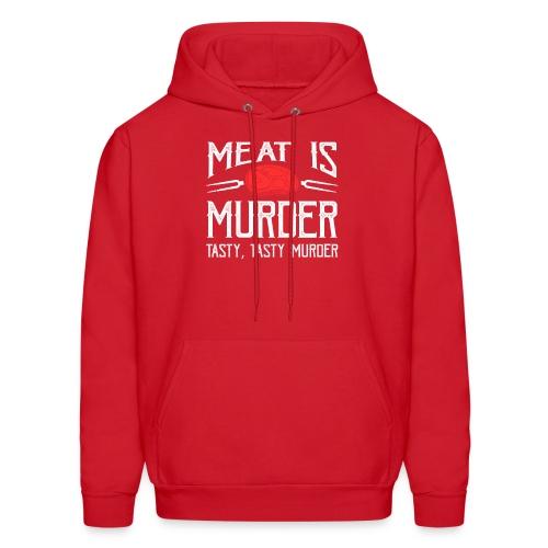 meat is murder vegan t shirt - Men's Hoodie