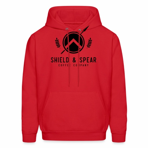 Shield and Spear Black Logo - Men's Hoodie