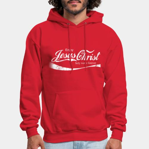 drink holy water christ - Men's Hoodie