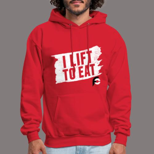 I Lift To Eat White 2 - Men's Hoodie