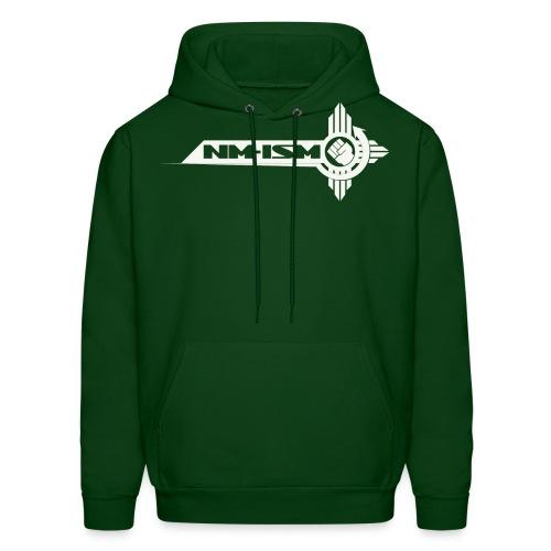 White NM-ISM Logo - Men's Hoodie
