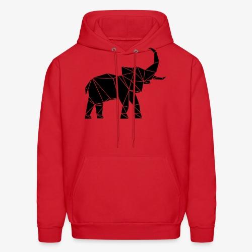 Lowpoly lephant - Men's Hoodie
