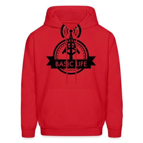 Basic-Life-Radio-Logo - Men's Hoodie