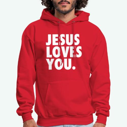 JESUS LOVES YOU - Men's Hoodie
