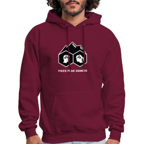 Pikes Peak Gamers Logo (Solid Black) - Men's Hoodie